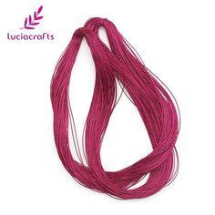 Lucia crafts 100y/lot 1mm Metallic Thread String Craft Cord Card Braid DIY Garment Handmade materials Accessories 033004002