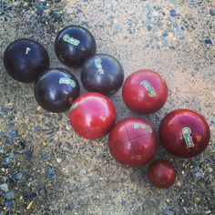 A personal favorite from my Etsy shop https://www.etsy.com/listing/273600896/bocce-balls-complete-set-eight-vintage