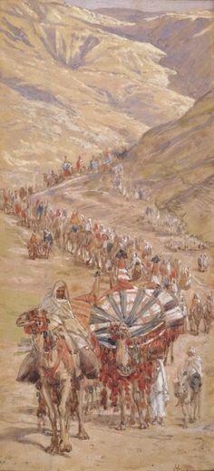 Phillip Medhurst presents 026/788 James Tissot Bible c 1899 The caravan of Abram Genesis 12:6 Jewish Museum New York. By (James) Jacques-Joseph Tissot, French, 1836-1902. Gouache on board.