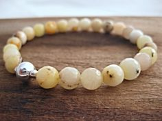 faceted agate beaded bracelet by leafandtendril