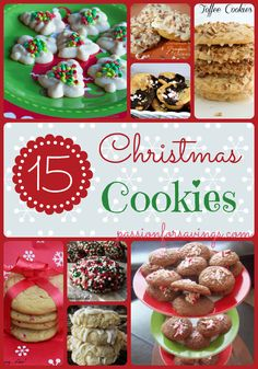 Just in case - - - If you love to make cookies during the holidays, here are 15 Amazing Christmas Cookies Recipes for you to try. Easy Christmas Cookie Recipes, Christmas Sweets, Christmas Cooking, Easy Cookie Recipes, Christmas Goodies, Cookie Desserts, Holiday Baking, Christmas Desserts, Holiday Recipes