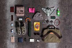 Essentials: James Appleby of etnies What In My Bag, What's In Your Bag, Things Organized Neatly, Gadgets, Summer Lookbook, Everyday Carry, Clothes Horse, Contemporary Fashion, North Face Backpack