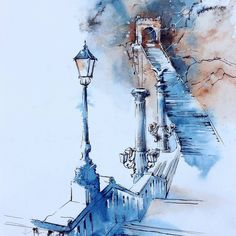 Watercolorist: @kamieshkova #watercolor #waterblog #акварель #aquarelle…