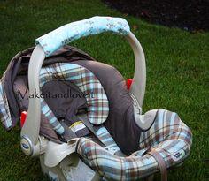 how to make a car seat handle cushion