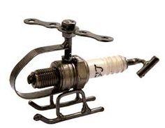 Image result for spark plug sculpture
