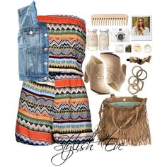 """Alaa."" by stylisheve on Polyvore How to wear a romper"
