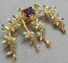 The Spider of the Night. Brooch by Salvador Dali. Brooch - a reproduction of one of the 39 precious brooches created by Salvador Dali in the late 1940's - early 50s