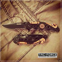 Tac-Force Spring Assisted EMT Orange Rescue Knife