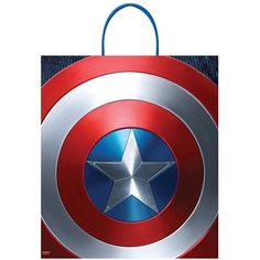 The Captain America Trick-or-Treat Bag matches your little hero's costume. This Halloween candy bag features Captain America's red, white, and blue shield. Plastic handles make this Captain America treat bag easy for your little one to carry around. Pine Christmas Tree, Christmas Gift Box, Captain America Birthday Cake, Halloween Candy Bags, Halloween Ideas, Zombie Girl, Hero Costumes, Trick Or Treat Bags, Paper Tree