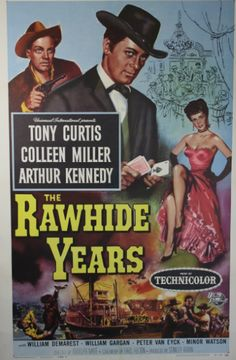 tony curtis movie posters | RAWHIDE YEARS, 1955. Original 1 sheet poster starring Tony Curtis