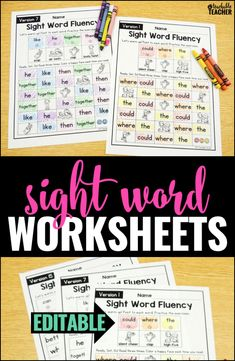 Build sight word flu