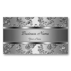 Shop Elegant Classy Silver Embossed Diamond Image Business Card created by Zizzago.