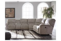 Pittsfield - Power Reclining Sectional by Signature Design by Ashley. Get your Pittsfield - Power Reclining Sectional at Cummings Furniture, Shelby NC furniture store. Power Reclining Loveseat, Reclining Sectional, Living Room Sectional, Living Room Furniture, Sectional Sofas, Sala Grande, Ashley Home, Nebraska Furniture Mart, Power Recliners