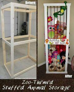 DIY stiffed animal storage
