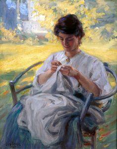 "Otto Stark (American, 1859-1926), ""A Summer Morning,"" 1909; Indianapolis Museum of Art, Gift of Miss Gretchen Stark, 71.33.7, © Coosje van Bruggen"