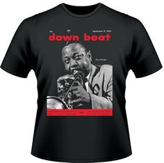 Our Limited Edition Classic Cover T-Shirt. It is our Sept. 19, 1956 cover of the great Roy Eldridge. https://subforms.com/downbeat/store/product.asp?id=141