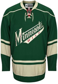 minnesota wild official third reebok edge authentic nhl hockey jersey made in canada