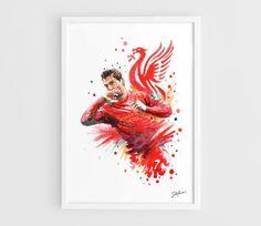 Luis Alberto Suarez  Liverpool FC   A3 Art Prints of by NazarArt, $15.00