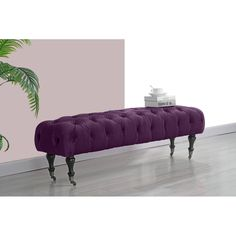 Brookline Victorian Tufted Upholstered Bench