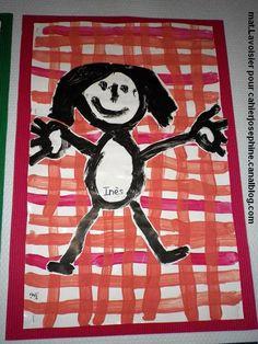lavbonhsurquadrillage03 Kindergarten Art, Preschool Art, Drawing For Kids, Art For Kids, Drawing Drawing, September Art, Back To School Art, Art Mat, School Portraits