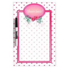 http://www.zazzle.com/pink_frame_monogram_rose_dry_erase_board-256579302982800343?rf=238523064604734277 Pink Frame Monogram Rose Dry-Erase Board - This dry erase board has lots of pink roses all over. It has a pink monogram frame with roses and green foliage in which to place your name and initial or shopping or to do list. This would make a wonderful mothers day or bride to be gift, it would also make a wonderful birthday or Christmas gift for your wife or daughter!
