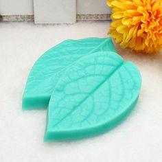 TC3773 Silicone Leaf Shaped Mold Fondant Cake 3D Silicone Mold