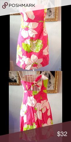 EUC Lilly Pulitzer She's a piston floral dress Size 8 with super cute tie back. Lilly Pulitzer Dresses Mini