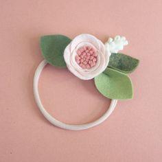 BALLET rosa / / sola flor banda o Cocodrilo clip / / diadema