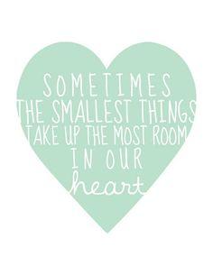 Small things.
