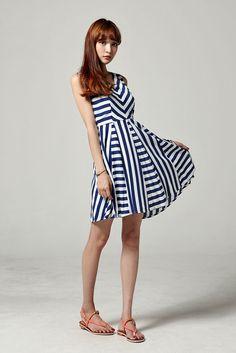Unique Stripe Pattern Dress