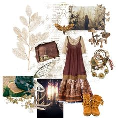 A fashion look from March 2013 featuring Hunkydory, beige dress and fringe booties. Browse and shop related looks. Witch Aesthetic, Aesthetic Fashion, Forest Fashion, Witchy Outfit, Mori Girl Fashion, Dark Mori, Forest Girl, Witch Fashion, Hippie Outfits