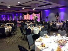 Canadian Honker Events at Apace, Rochester MN #weddings #decor #headtable #backdrop #uplights #grandballroom
