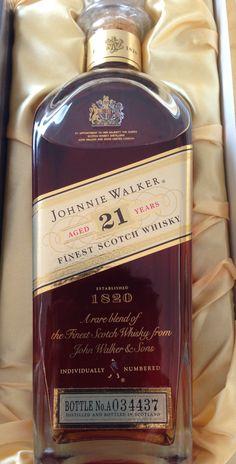 Johnnie Walker Mini Liquor Bottle Blue Label Scotch