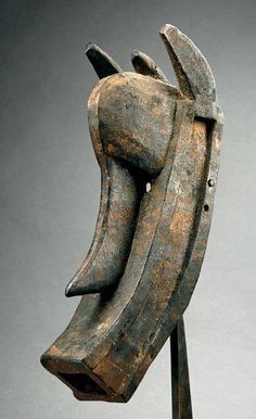 Africa | Mask from the Bambara people of Mali | Wood.