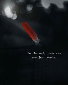 sad disappointment quotes In the end, promises are just words. - sad disappointment quotes In the end, promises are just words. Motivational Quotes For Success, Meaningful Quotes, Positive Quotes, Inspirational Quotes, Strong Quotes, Positive Vibes, Quotes Deep Feelings, Mood Quotes, Feeling Empty Quotes