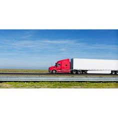 Semi truck moving on the highway US Interstate 5 California USA Canvas Art - Panoramic Images (12 x 24)