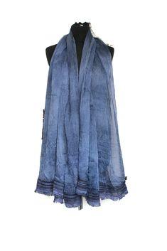 Blue silk scarves for women , Blue silk shawl , Blue Womens scarf silk , Large silk scarves , Oversize silk acarf , Infinity scarf for women by BarLeather on Etsy