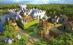 voxel castle | render
