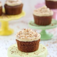 Chocolate Coffee Cupcakes with Coffee Buttercream Frosting Recipe - RecipeChart.com #Dessert #Snack