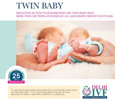 Delhi IVF established one of the leading and most successful IVF Clinic in India since 1993 under the leadership of Dr. If you are looking for the best infertility treatment in Delhi, India, Visit us now! Ivf Treatment, Infertility Treatment, Twin Babies, Twins, Types Of Infertility, Ivf Clinic, Fertility Center, Baby Milestones, 1 Month