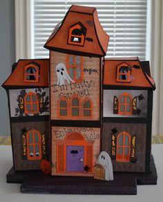 Bats, ghosties, jack-o-lanterns and googlie eyes on the Hallowe'en Maple Manor.