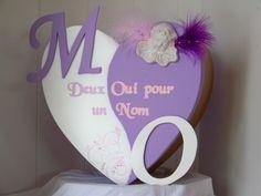 Urne mariage coeur ange, parme,rose et blanche : Boîtes, coffrets par latelierdeclarameline