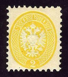 Aquila 2 s. giallo (41). Splendido. AD, Bot.