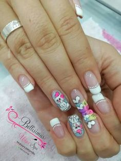 Manicure Y Pedicure, Nails, Fingers, Barbie, Beauty, Nail Art, Finger Nails, Templates, Polymer Clay Kawaii