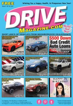 Drive Magazine Front Cover - Issue 1 of 2016