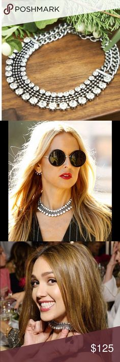 """Dylanex """"Zoey"""" Necklace Retail value $200. Gorgeous necklace dripping with Swarovski Crystals and glass stones  Dylanex x Rachel Zoe collab. Dylanex necklaces are seen all over Hollywood on the kardashians, Beyoncé, Rihanna, and more!! A staple in your closet for sure. Selling because I have two ❤ Rachel Zoe Jewelry Necklaces"""