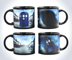 TAKE NOTICE! I want this to belong to me! Disappearing TARDIS Mug | DudeIWantThat.com