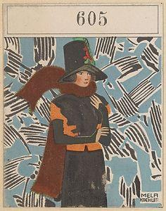605. Mela Koehler,  Wiener Werkstatte postcard
