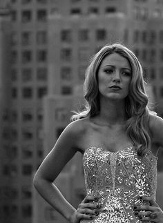 Blake Lively looking pensive.