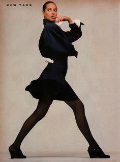 "Spring '87/International Report: New York"" - Vogue US January 1987"